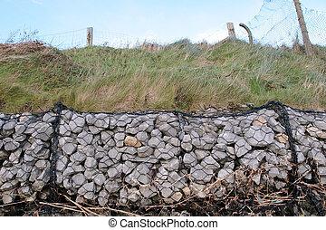 coastal rock barrier