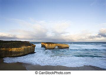 Coastal rock formation.