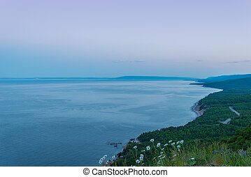 Coastal Scene on the Cabot Trail at dusk