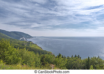 Coastal Scene on the Cabot Trail in Nova Scotia