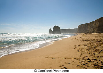 Two of the Twelve Apostles - a series of limestone stacks on the shoreline in Southern Victoria, is one of Australia's premier tourist attractions