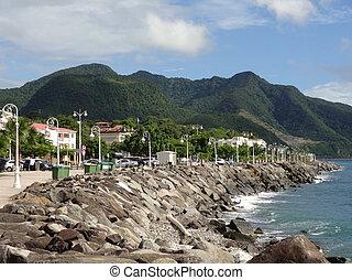 idyllic coastal scenery on a caribbean island named Guadeloupe