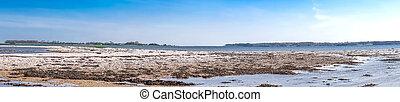 Coastal scenery with pebbles on the beach