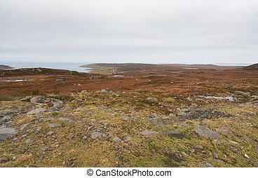 coastal scottish landscape - great colored panoramic scenery...