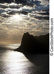 Coastal Silhouette Scene