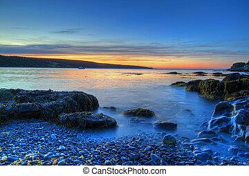 Coastal Sunrise - Sunrise along the Newfoundland Coast.
