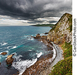 coastal, synhåll, nya zeeland