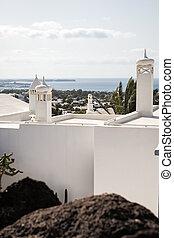 Coastal town in Lanzarote