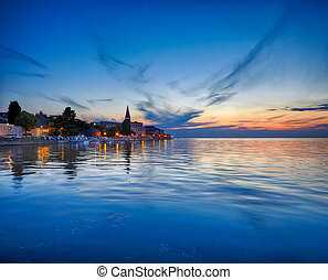 Coastal town of Rovinj, Istria, Croatia in sunset. Rovin...