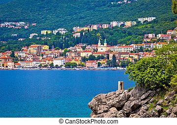 Coastal town of Volosko in Kvarner bay, Croatia
