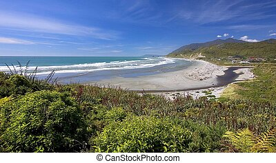 coastal view, new zealand