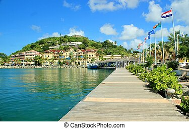Coastal views of St. Martin - Beautiful view of the capital...