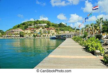 Coastal views of St. Martin - Beautiful view of the capital...