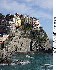 coastal village in italy