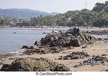 Coastal village in Mexico