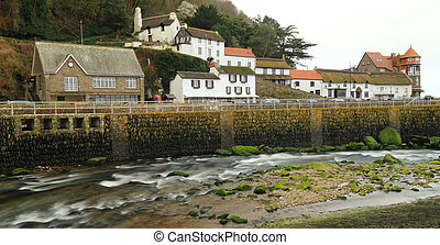 Coastal village of Lynmouth in Devon