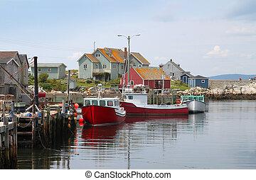 Peggys Cove - Coastal village of Peggys Cove, Nova Scotia,...