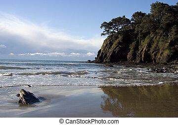 A secluded bay along California's Mendocino Coast. A secluded bay along California�s Mendocino Coast. A secluded bay along California's Mendocino Coast.
