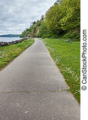 Coastal Walkway - A view of the walkway at Saltwater State ...