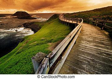 Coastal Walkway - Boardwalk on Australian Coastline