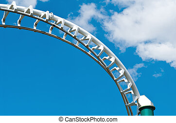 coaster anti-cloud barrier - curved roller coaster track...