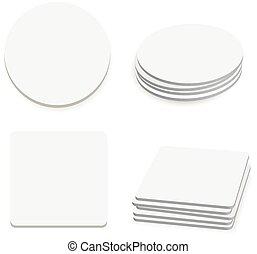 coasters, tavola rotonda, quadrato