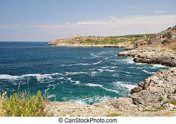 Coastine landscape in Salento, Apulia. Italy - Coastine ...