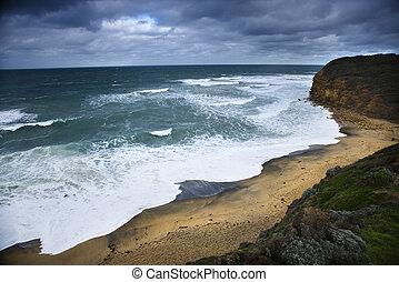 coastline., αυστραλός