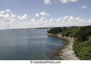 coastline - a view of the city of brest