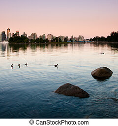 Vancouver - Coastline around Stanley Park, Vancouver.