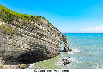 Coastline, cape Farewell, south island, new zealand
