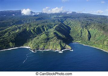 coastline., hawaii