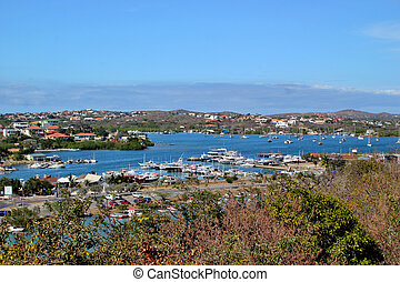 Coastline in St. Martin - Views of the coastline on the...