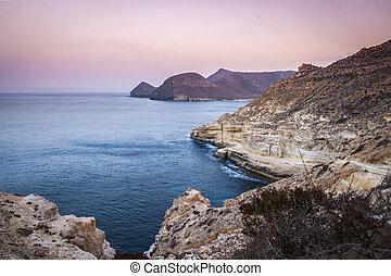 Coastline in the Cabo de Gata Natural Park, Spain
