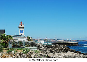 Coastline landscape in Cascais, Portugal - beautiful...