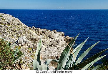 Coastline landscape in Salento, Apulia. Italy - Adriatic ...