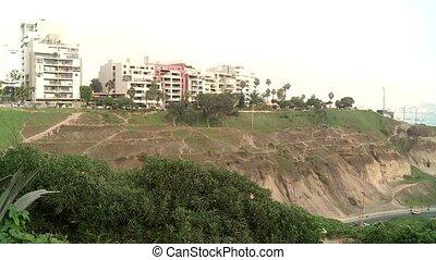 Coastline, Lima, Peru - coastline of Lima between Barranco...