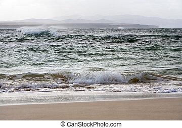 Coastline of a bay