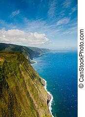 Coastline of Molokai island