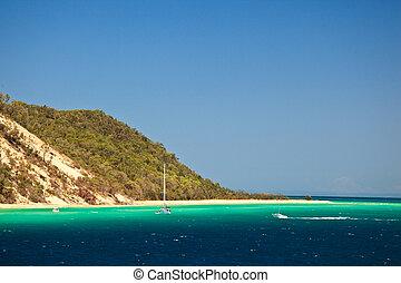 Coastline of Moreton Island Australia - Coastline and ...