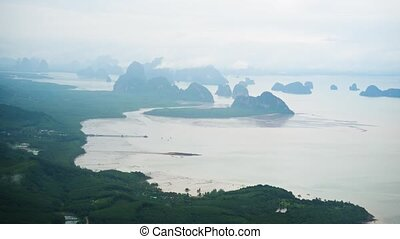 Coastline of Southern Thailand from the Air. 1080p DCI...