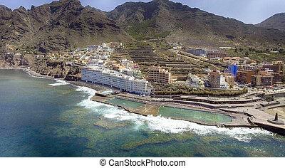 Coastline of Tenerife Island, aerial view