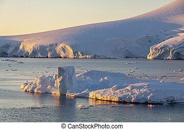 Coastline of the Lamaire Channel - Antarctica