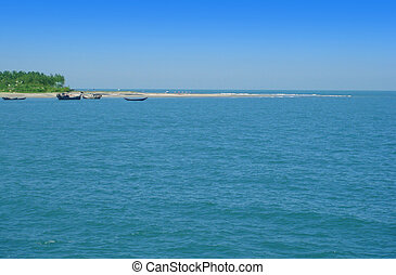 Coastline of the Saint Martins Island of Bangladesh
