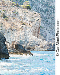 coastline of Zante, Greece