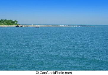 Coastline of the Saint Martins Island of Bangladesh