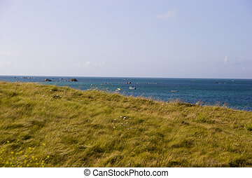 coastline - view of coastline in brittany