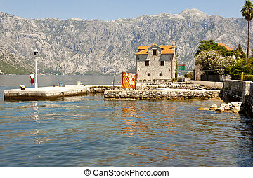 Coastline view. Bay of Kotor