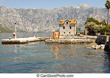 Coastline view. Bay of Kotor