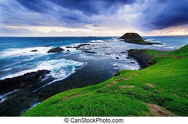 coastline, wspaniały